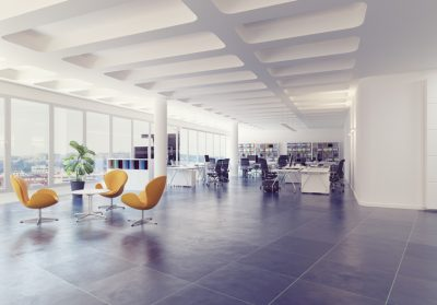 Bright modern office space. The changing face of the office space.
